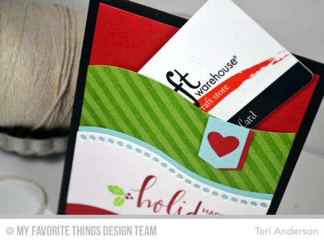 Handmade Christmas Gift Card Pocket