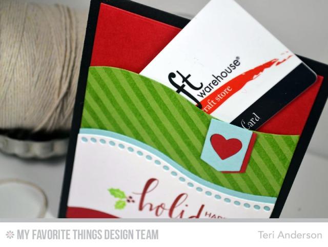 Handmade Christmas Gift Card Pocket