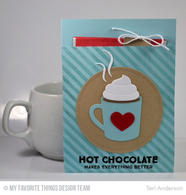 Hot Chocolate gift pocket by Teri