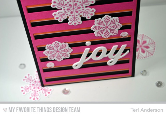 Modern Snowflake Joy by Teri