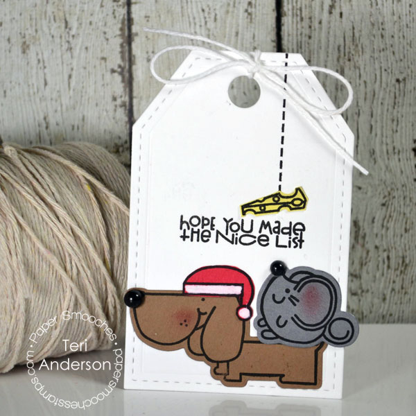Nice List Handmade Christmas Tag by Teri