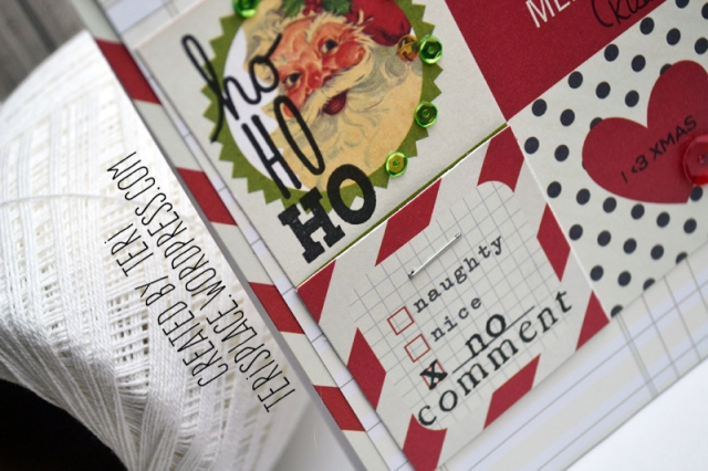 A handmade stamped Christmas card // terisplace.wordpress.com