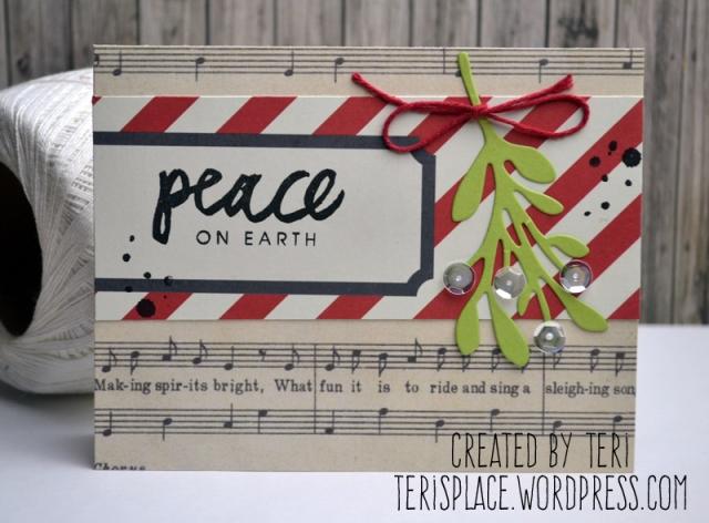 A handmade stamped Christmas card // terisplace.wordpress.com