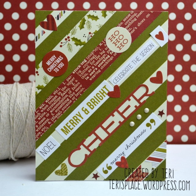 A handmade Christmas card by Teri // terisplace.wordpress,com