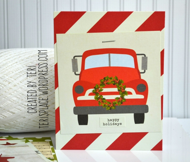 Holiday Truck card by Teri