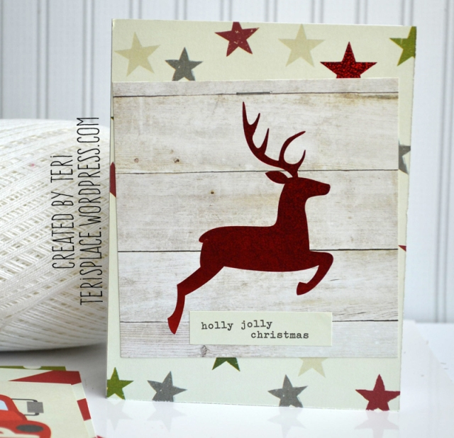 Holly Jolly Deer card by Teri