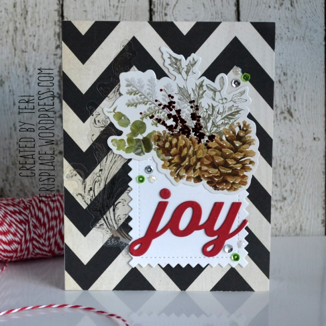 Handmade Christmas card by Teri//terisplace.wordpress.com