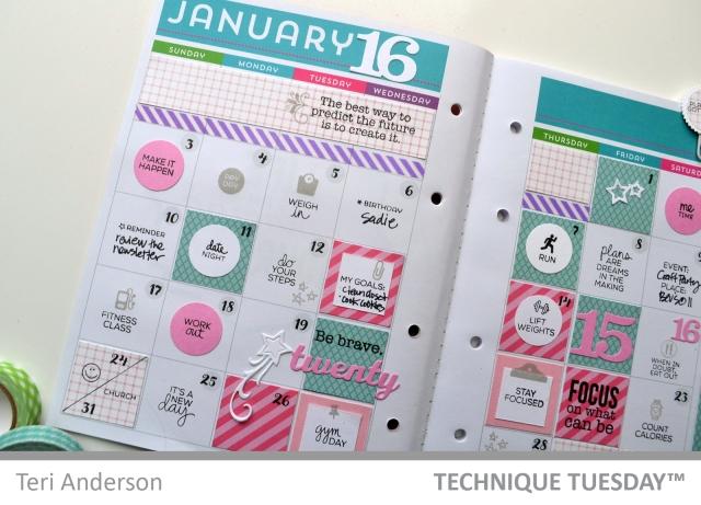 Planner spread by Teri
