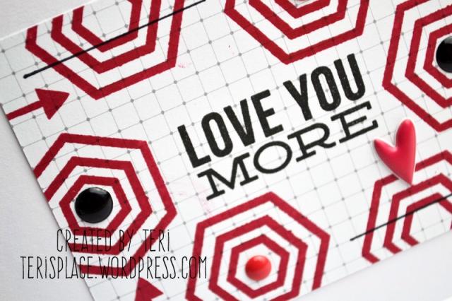 Graphic Love You Handmade Stamped Card by Teri // terisplace.wordpress.com
