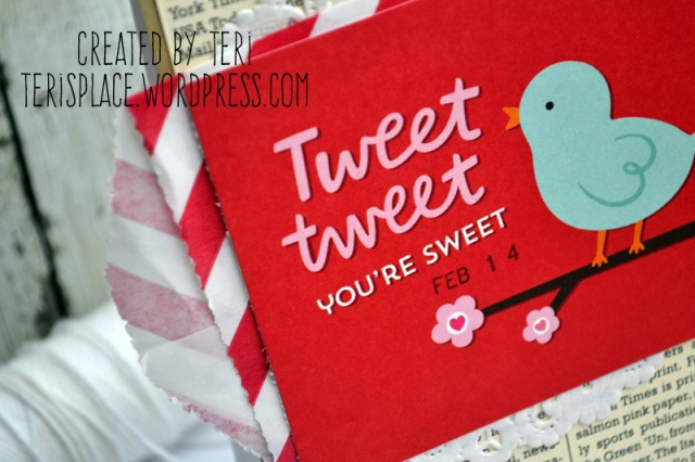 Tweet Tweet Valentine's Card // terisplace.wordpress.com