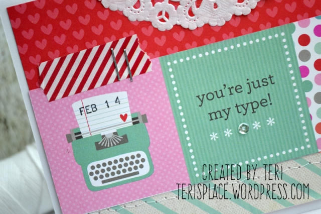 Typewriter Love card by Teri // terisplace.wordpress.com