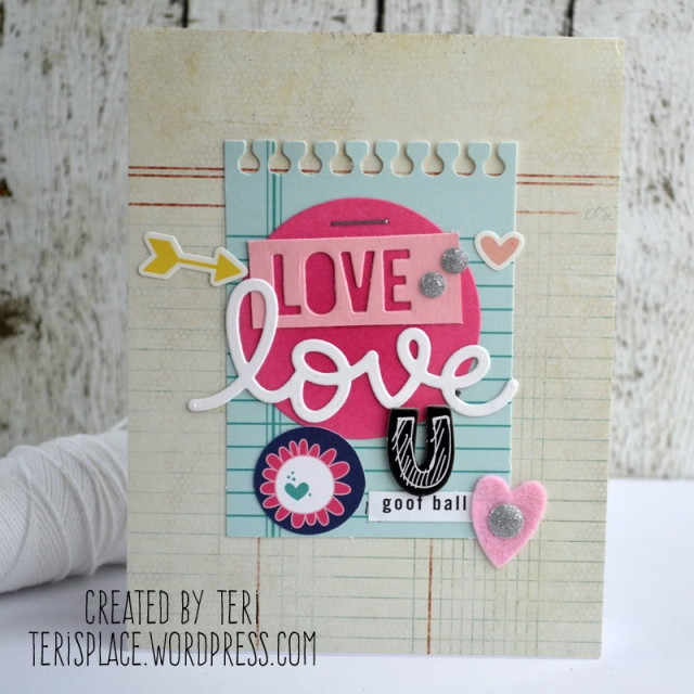 A handmade love card // terisplace.wordpress.com