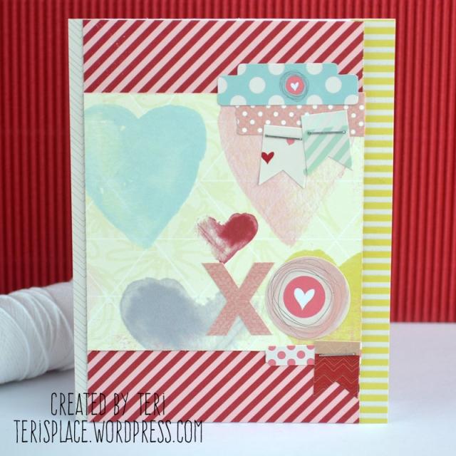 Xo Hearts card by Teri // terisplace.wordpress.com