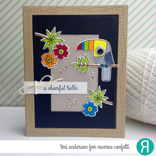 A handmade card for Reverse Confetti by Teri // terisplace.wordpress.com