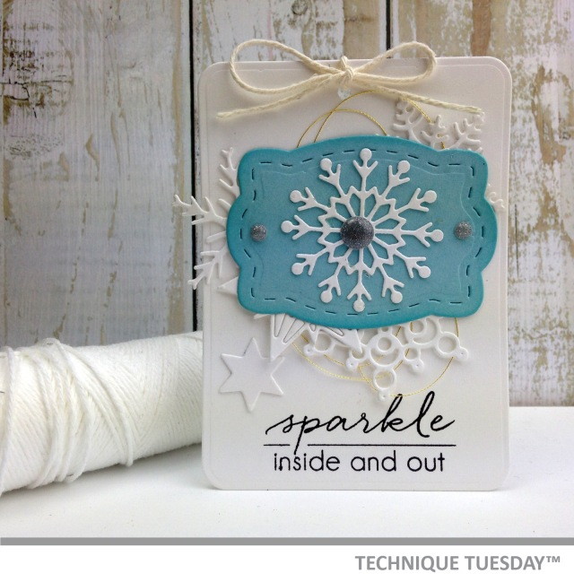 A handmade tag by Teri for Technique Tuesday // terisplace.wordpress.com