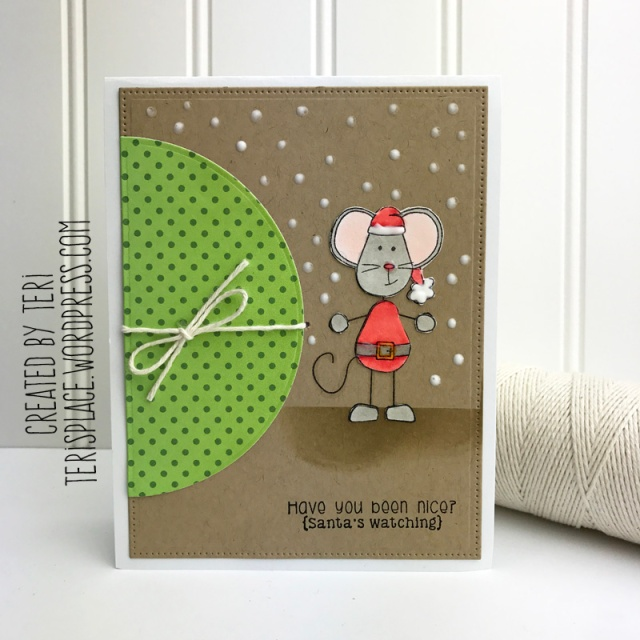 A handmade Christmas card by Teri // terisplace.wordpress.com