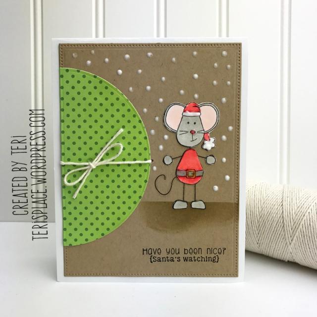 A handmade Christmas card by Teri // terisplace.wordpress.com