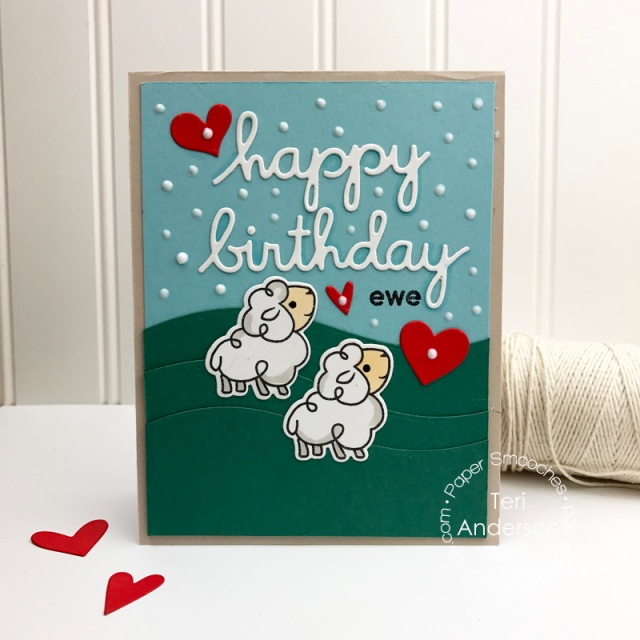 A handmade card created for Paper Smooches by Teri // terisplace.wordpress.com