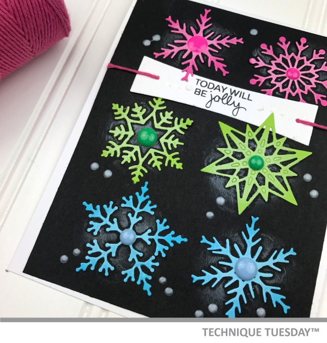 snowflakes card by Teri // terisplace.wordpress.com