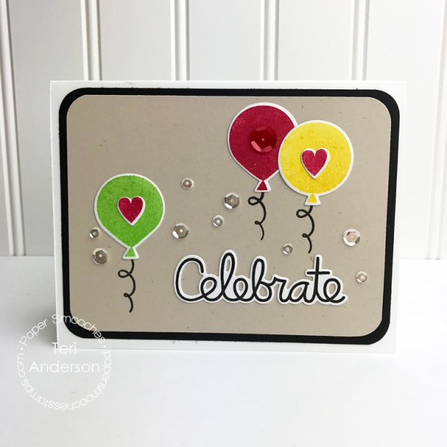 A card created with clear stamps and steel dies from Paper Smooches // terisplace.wordpress.com