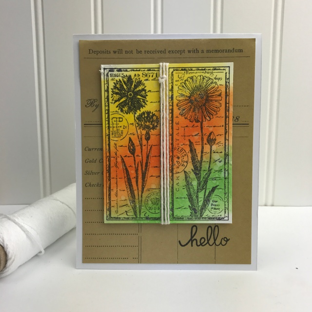 Hello Flowers handmade card by Teri // terisplace.wordpress.com