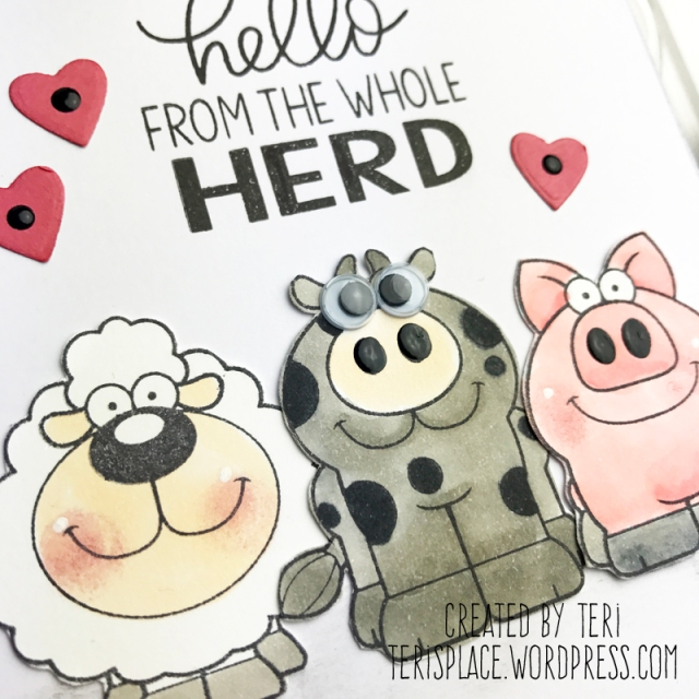 Hello from the Herd handmade card by Teri // terisplace.wordpress.com