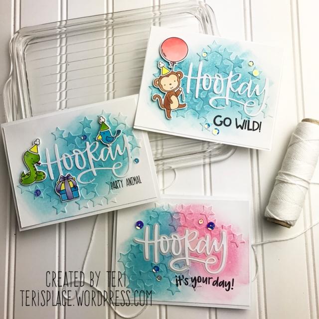 Three handmade birthday cards for Neat and Tangled by Teri // terisplace.wordpress.com