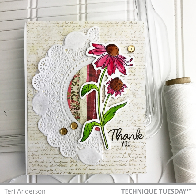 A handmade card by Teri for Technique Tuesday // terisplace.wordpress.com