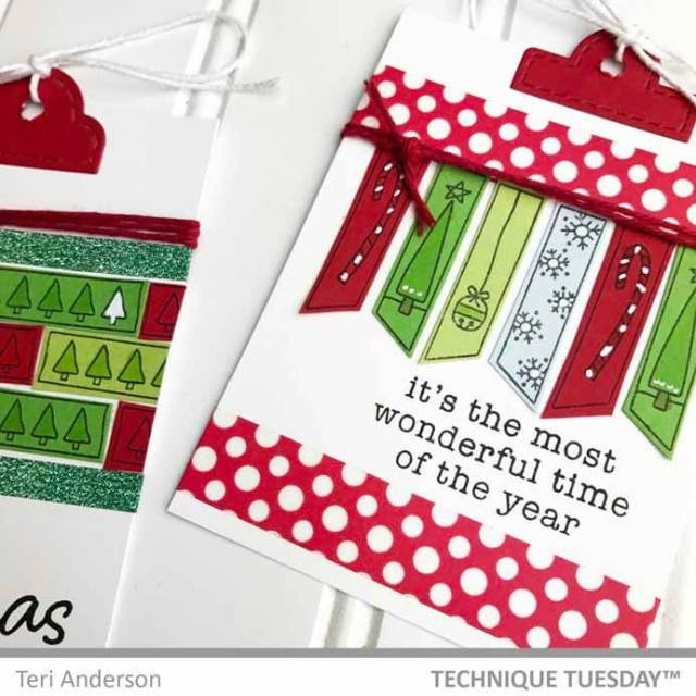 Handmade Christmas gift tags by Teri // terisplace.wordpress.com