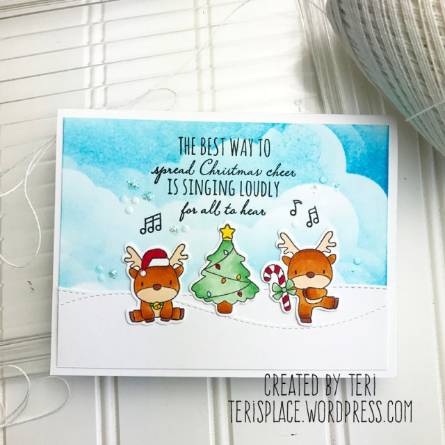 A Christmas card by Teri // terisplace.wordpress.com