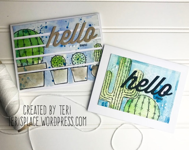Stamped cactus cards by Teri // terisplace.wordpress.com