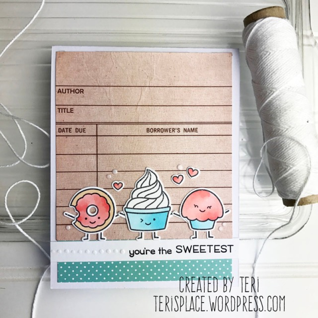 A stamped card by Teri // terisplace,wordpress.com