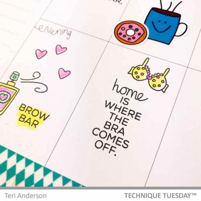 A planner page for Technique Tuesday by Teri || terisplace.wordpress.com