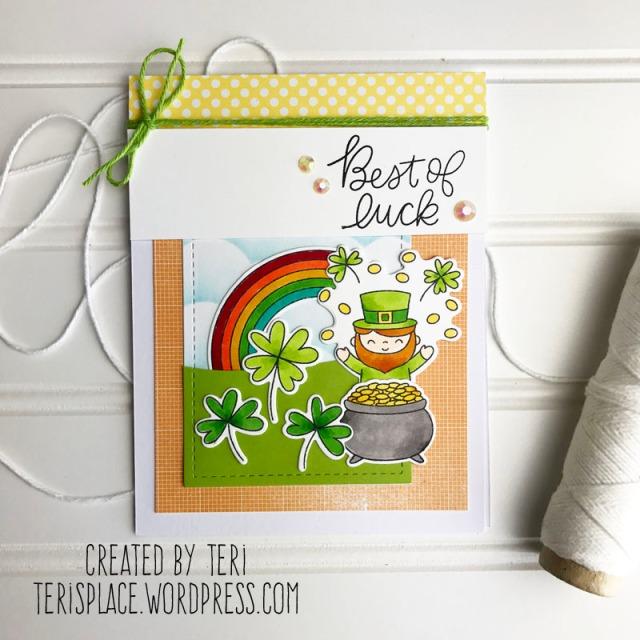 A handmade stamped card by Teri // terisplace,wordpress.com