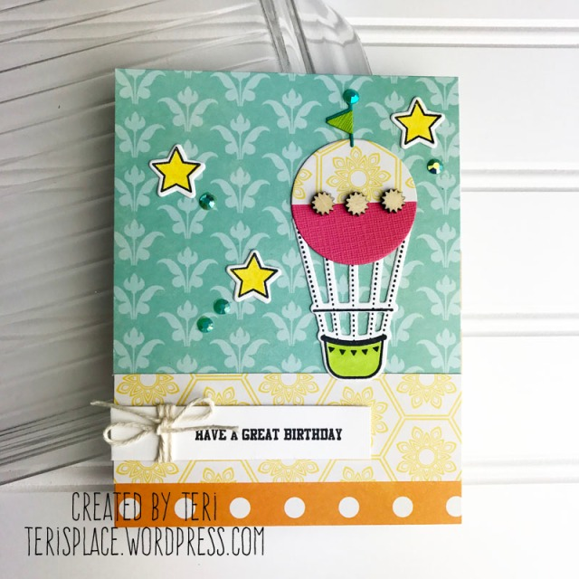 A stamped birthday card by Teri || terisplace,wordpress.com