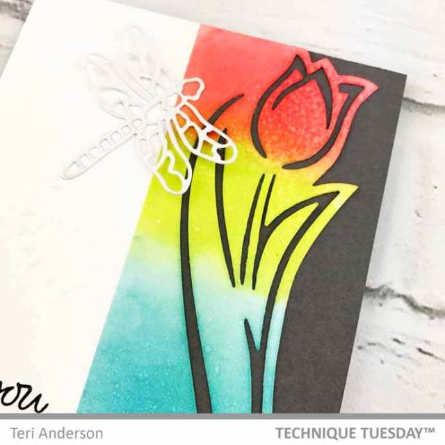 A handmade card by Teri for Technique Tuesday || Terisplace.wordpress.com