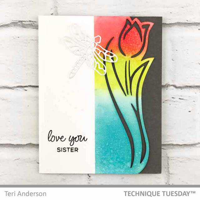 Love-You-Sister-Tulip-Card-Teri-A-Technique-Tuesday