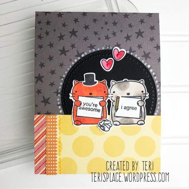 A stamped handmade card by Teri    terisplace,wordpress.com