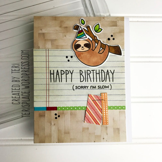 A stamped birthday card by Teri || terisplace.wordpress.com