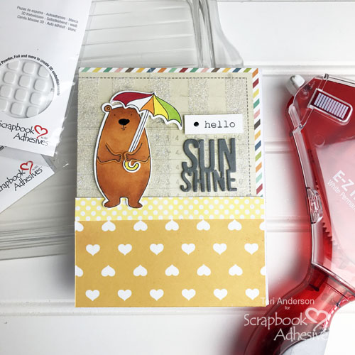 Glittery Stripes Tutorial by Teri Anderson for Scrapbook Adhesives by 3L