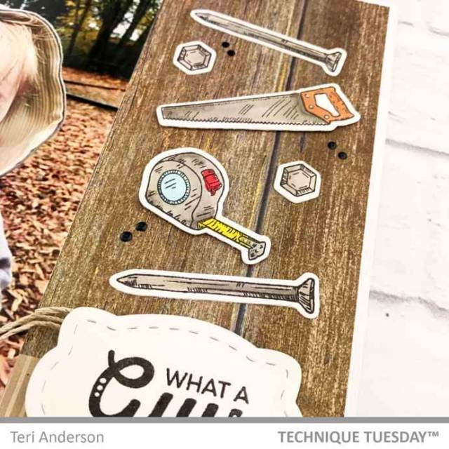 A scrapbook page by Teri for Technique Tuesday || TechniqueTuesday.com