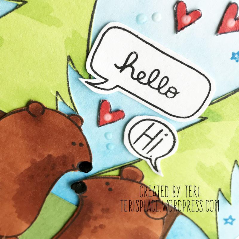 A stamped card by Teri    terisplace.wordpress.com