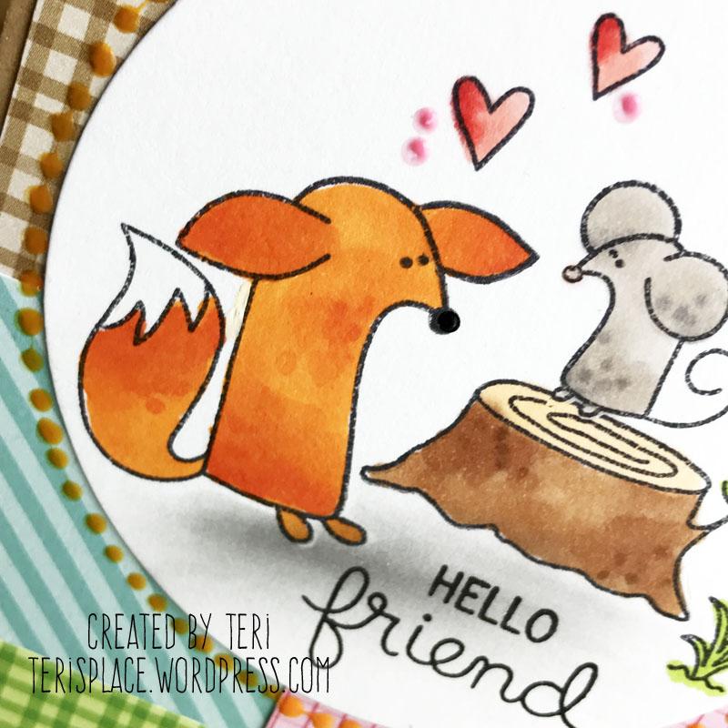 Hello Friend stamped card by Teri    Terisplace.wordpress.com