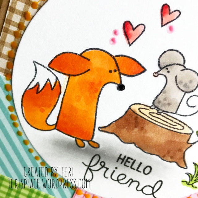 Hello Friend stamped card by Teri || Terisplace.wordpress.com