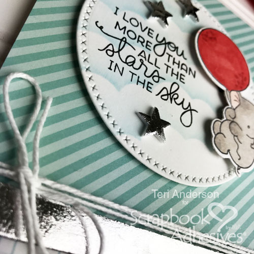 A handmade stamped card for Teri for Scrapbook Adhesives by 3L