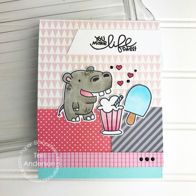 A stamped card by Teri for Paper Smooches || Terisplace.wordpress.com