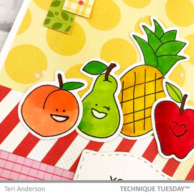 Youre-A-Real-Peach-Happy-Fruits-Card-Close-Teri-A-Technique-Tuesday