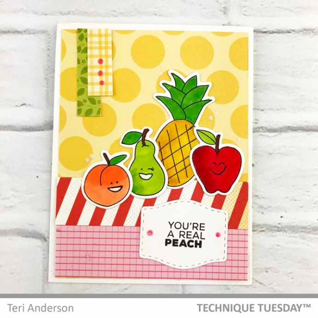 Youre-A-Real-Peach-Happy-Fruits-Card-Teri-A-Technique-Tuesday