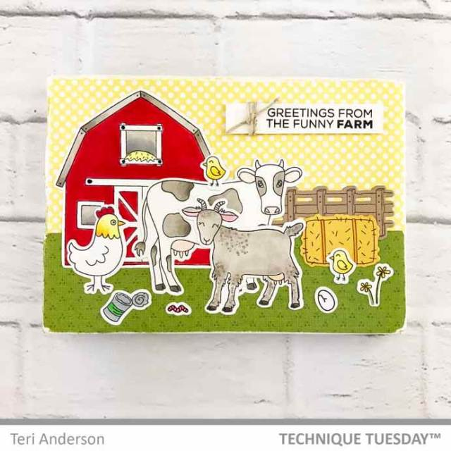 Funny-Farm-Barn-Scene-Canvas-Teri-A-Technique-Tuesday