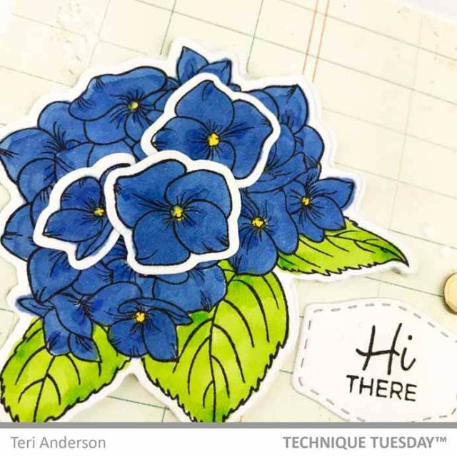 Hi-Friend-Label-Flower-Card-Close-1-Teri-A-Technique-Tuesday